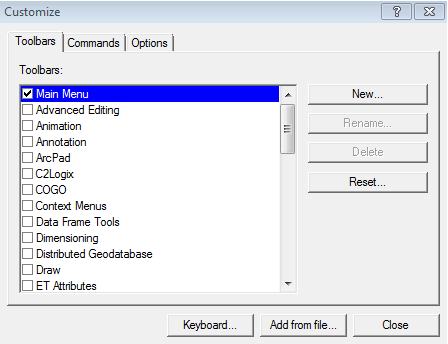 Adding a Python Script to a New Toolbar in ArcView 9 3 1