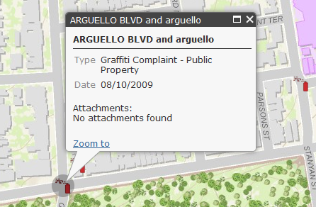 Working with the Popup Widget in the ArcGIS Server API for